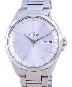 Westar Silver Dial Stainless Steel Quartz 40212 STN 107 Women's Watch