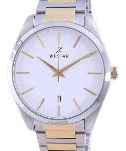 Westar White Dial Two Tone Stainless Steel Quartz 50213 CBN 101 Men's Watch