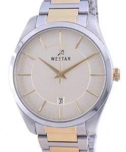 Westar Champagne Dial Two Tone Stainless Steel Quartz 50213 CBN 102 Men's Watch
