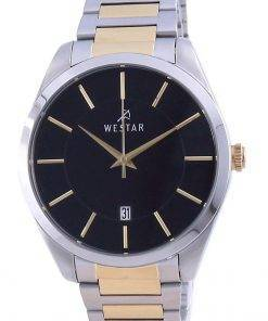 Westar Black Dial Two Tone Stainless Steel Quartz 50213 CBN 103 Men's Watch