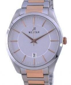 Westar Silver Dial Two Tone Stainless Steel Quartz 50213 SPN 607 Men's Watch