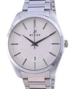 Westar Champagne Dial Stainless Steel Quartz 50213 STN 102 Men's Watch