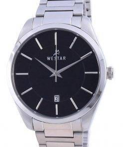 Westar Black Dial Stainless Steel Quartz 50213 STN 103 Men's Watch