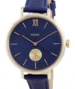 Fossil Kalya Blue Dial Leather Quartz ES5042 Womens Watch
