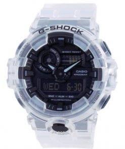 Casio G-Shock Transparent Pack Analog Digital Quartz Diver's GA-700SKE-7A GA700SKE-7 200M Men's Watch