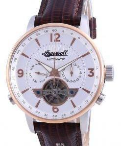 Ingersoll The Grafton Silver Dial Open Heart Automatic I00701B Men's Watch