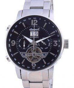 Ingersoll The Grafton Black Dial Open Heart Automatic I00704 Men's Watch