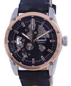 Ingersoll The Carroll Semi Skeleton Dial Leather Automatic I11602 Men's Watch