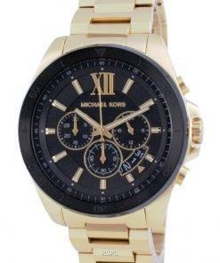 Michael Kors Brecken Chronograph Gold Tone Quartz MK8848 Mens Watch