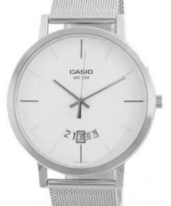 Casio Classic Analog Stainless Steel Mesh Quartz MTP-B100M-7E MTPB100M-7E Men's Watch