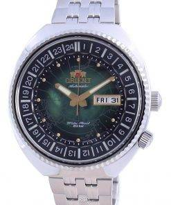 Orient World Map Revival Stainless Steel Automatic Diver's RA-AA0E02E19B 200M Men's Watch