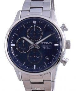 Seiko Discover More Titanium Chronograph Quartz SSB387 SSB387P1 SSB387P 100M Men's Watch