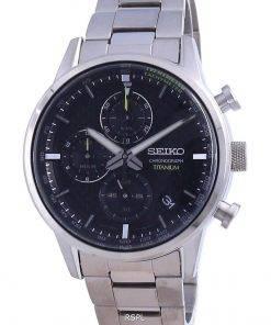 Seiko Discover More Titanium Chronograph Quartz SSB389 SSB389P1 SSB389P 100M Men's Watch