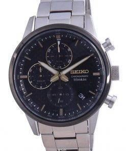 Seiko Discover More Titanium Chronograph Quartz SSB391 SSB391P1 SSB391P 100M Men's Watch