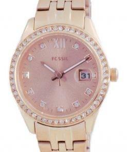 Fossil Scarlette Micro Diamond Accents Rose Gold Quartz ES5038 Womens Watch