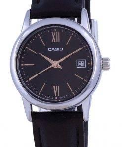 Casio Black Dial Stainless Steel Analog Quartz LTP-V002L-1B3 LTPV002L-1 Womens Watch