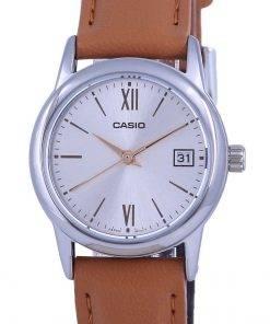 Casio Silver Dial Stainless Steel Analog Quartz LTP-V002L-7B3 LTPV002L-7 Womens Watch