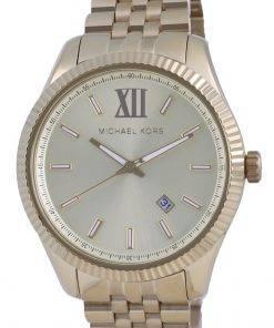 Michael Kors Lexington Gold Dial Quartz MK8857 Mens Watch