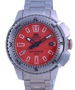 Orient M-Force Orange Dial Stainless Steel Automatic Divers RA-AC0N02Y10B 200M Mens Watch