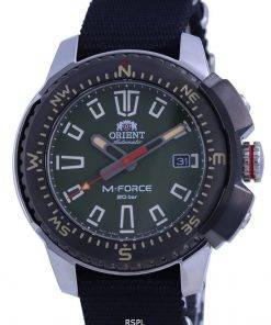 Orient M-Force Green Dial Stainless Steel Automatic Divers RA-AC0N03E10B 200M Mens Watch