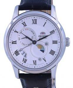 Orient Classic Sun  Moon White Dial Automatic RA-AK0008S10B Mens Watch