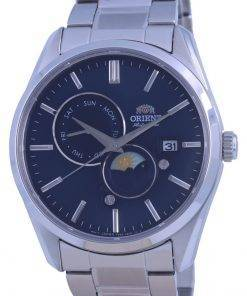 Orient Contemporary Sun  Moon Blue Dial Automatic RA-AK0308L10B Mens Watch