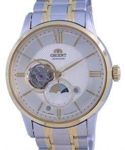 Orient Classic Sun  Moon Open Heart Automatic RA-AS0007S10B Mens Watch
