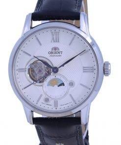 Orient Classic Sun  Moon Open Heart Automatic RA-AS0011S10B Mens Watch