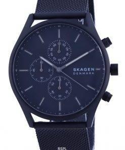 Skagen Holst Black Dial Chronograph Stainless Steel Quartz SKW6651 Mens Watch