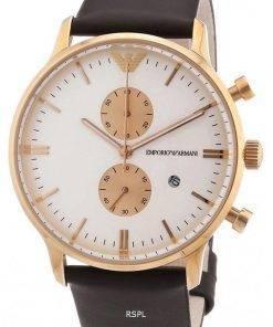 Emporio Armani Gianni Chronograph Leather Strap Quartz AR0398 Mens Watch