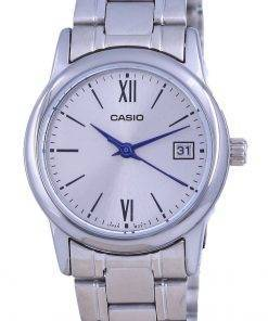 Casio Silver Dial Stainless Steel Analog Quartz LTP-V002D-7B3 LTPV002D-7 Womens Watch