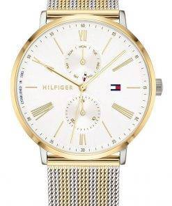 Tommy Hilfiger Jenna White Dial Two Tone Stainless Steel Quartz 1782074 Womens Watch