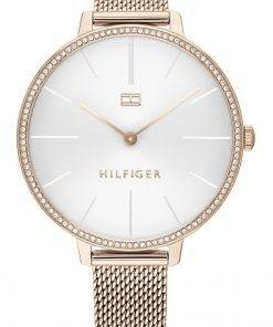 Tommy Hilfiger Kelly Crystal Accents Stainless Steel Quartz 1782115 Womens Watch