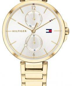 Tommy Hilfiger Angela Silver Dial Gold Tone Stainless Steel Quartz 1782128 Womens Watch