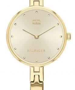 Tommy Hilfiger Kit Gold Tone Dial Stainless Steel Quartz 1782135 Womens Watch