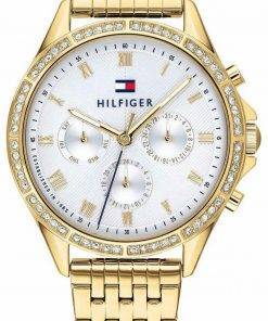 Tommy Hilfiger Ari Crystal Accents Gold Tone Stainless Steel Quartz 1782142 Womens Watch