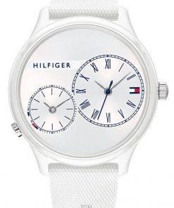 Tommy Hilfiger Meg White Dial Silicon Strap Quartz 1782145 Womens Watch