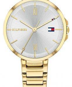 Tommy Hilfiger Reade Silver Dial Gold Tone Stainless Steel Quartz 1782207 Womens Watch