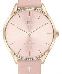 Tommy Hilfiger Crystal Accents Leather Strap Quartz 1782215 Womens Watch