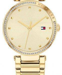 Tommy Hilfiger Lynn Crystal Accents Gold Tone Stainless Steel Quartz 1782235 Water Womens Watch