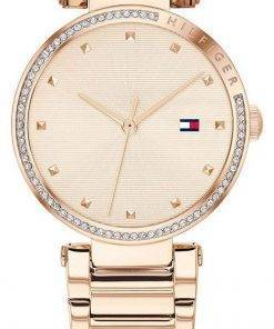 Tommy Hilfiger Lynn Crystal Accents Rose Gold Tone Stainless Steel Quartz 1782237 Womens Watch