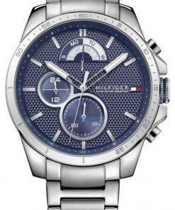 Tommy Hilfiger Decker Blue Dial Stainless Steel Quartz 1791348 Mens Watch