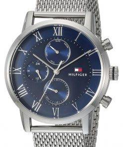 Tommy Hilfiger Kane Blue Dial Stainless Steel Quartz 1791398 Mens Watch