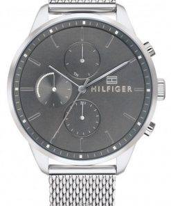 Tommy Hilfiger Chase Grey Dial Stainless Steel Quartz 1791484 Mens Watch