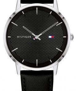 Tommy Hilfiger James Black Dial Leather Strap Quartz 1791651 Mens Watch