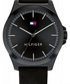 Tommy Hilfiger Barclay Black Dial Leather Strap Quartz 1791715 Mens Watch