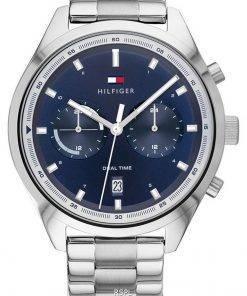 Tommy Hilfiger Bennett Blue Dial Stainless Steel Quartz 1791725 Mens Watch