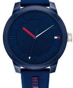 Tommy Hilfiger Denim Blue Dial Silicon Strap Quartz 1791745 Mens Watch